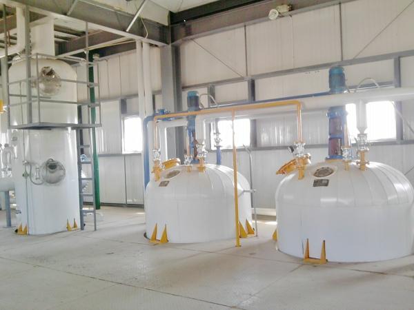 rice bran oil refinery