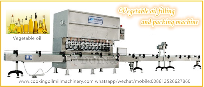 vegetable oil filling and packing machine
