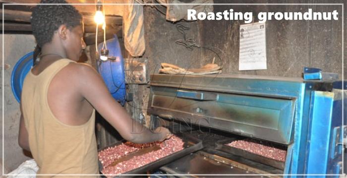 roasting peanut