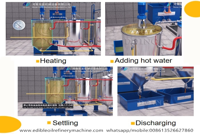 cottonseed oil degumming process