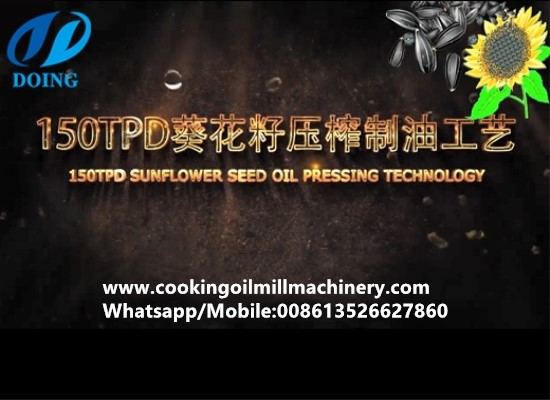 150tpd sunflower oil processing plant working flow 3D video